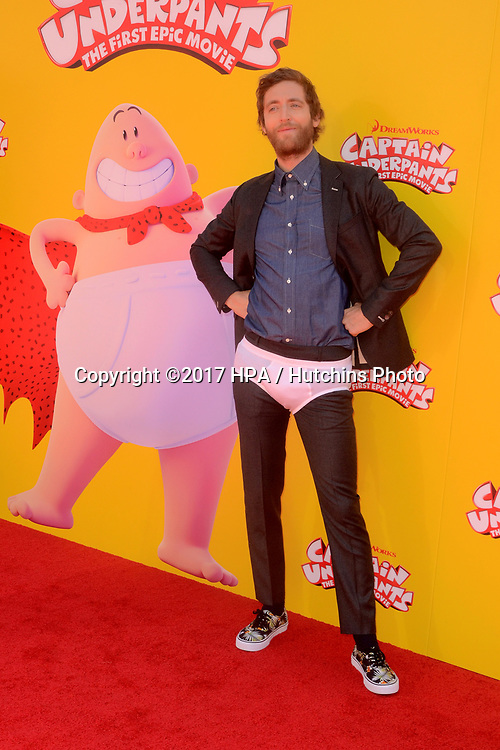 """LOS ANGELES - MAY 21:  Thomas Middleditch at the """"Captain Underpants"""" Los Angeles Premiere at the Village Theater on May 21, 2017 in Westwood, CA"""