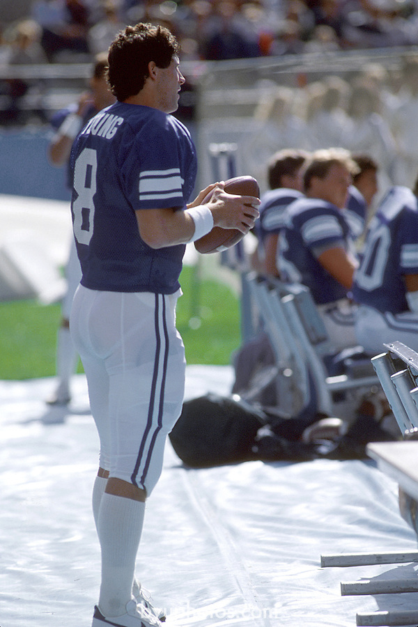 Steve Young<br /> <br /> 8 Steve Young. <br /> <br /> Photo by Mark Philbrick/BYU<br /> <br /> &copy; BYU PHOTO 2009<br /> All Rights Reserved<br /> photo@byu.edu  (801)422-7322