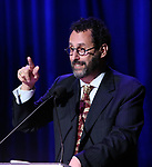 Tony Kushner on stage during the Vineyard Theatre Gala 2018 honoring Michael Mayer at the Edison Ballroom on May 14, 2018 in New York City.