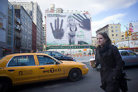 A Calvin Klein billboard in the Soho neighborhood of New York on Saturday, March 19, 2011. Klein's advertisements use sex and provocative images to test society's cultural and moral boundaries. (© Richard B. Levine)