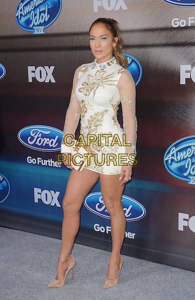 LOS ANGELES, CA - MARCH 11: Jennifer Lopez attends Fox's 'American Idol XIV' Finalist Party at The District Restaurant on March 11, 2015 in Los Angeles, California. Credit: PGMP/MediaPunch<br /> CAP/MPI/PGFM<br /> &copy;PGFM/MPI/Capital Pictures