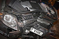 RTC involving an Audi A4 in collision with the front of a private house Warwickshire UK..©shoutpictures.com..john@shoutpictures.com