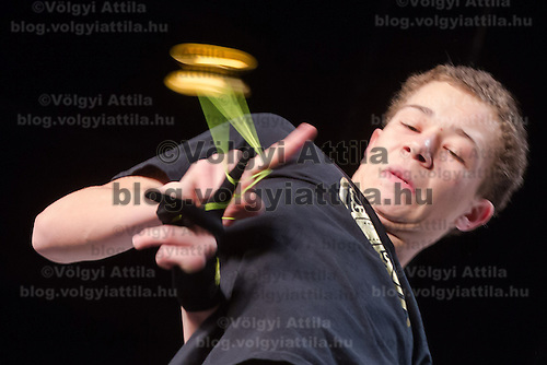 Carlos Braun of Germany competes during the Yoyo European Championships in Budapest, Hungary on February 23, 2014. ATTILA VOLGYI