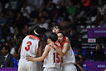 Japan team group (JPN), <br /> AUGUST 17, 2018 - Basketball : Women's Qualification round match between Japan 73-105 China at Gelora Bung Karno Basket Hall A during the 2018 Jakarta Palembang Asian Games in Jakarta, Indonesia. (Photo by MATSUO.K/AFLO SPORT)