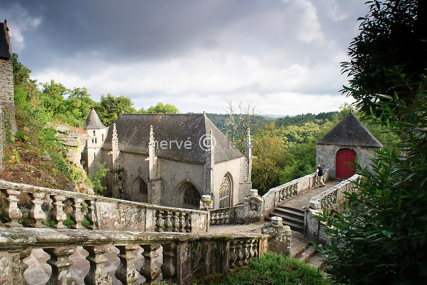 France, Morbihan (56), le Faouët, la chapelle Sainte Barbe // France, Morbihan, le Faouet, chapel Sainte Barbe