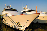 Expensive yachts at Palm Beach Harbor Yacht Club in Palm Beach Florid
