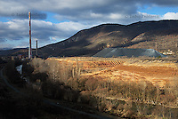 Trepca smelter and toxic tailings, the remnants from processing of lead and zinc ores, in northern Mitrovica.