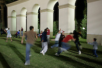 16 September 2006: The north end grassy area during Stanford's 37-9 loss to Navy during the grand opening of the new Stanford Stadium in Stanford, CA.