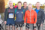 Jerry O'Shea, Flor O'Sullivan, Denis O'Shea and Tom Palmer, all Kenmare with Seamus Murphy, Gneeveguilla, at the Charles O'Shea memorial 10k road race in Beaufort on Sunday.