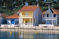 Europe/France/Aquitaine/33/Gironde/Bassin d'Arcachon/Le Cap Ferret/L'Herbe: Détail des cabanons du vilage ostréïcole
