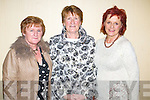Enjoying the fashion show in aid of the Motor Neurone Disease Association and the Palliative Care Unit at Kerry General Hospital, held in the Brandon Hotel on Saturday evening were l-r: Mary O'Regan, Kit Ryan and Joan Potoski.