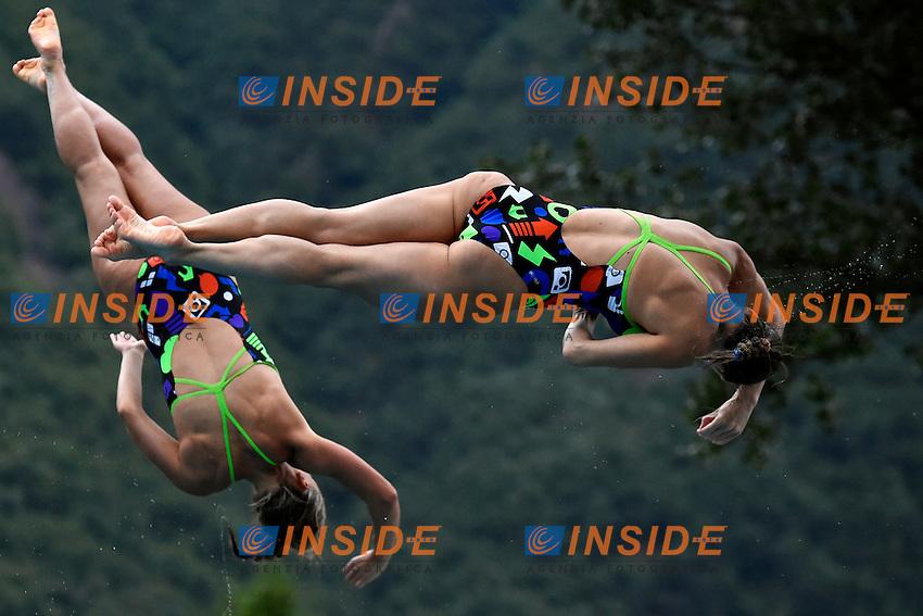 Francesca Dallape', Tania Cagnotto ITA <br /> Synchronized Springboard 3m Women Final - Trampolino 3m Sincro Finale <br /> Bolzano 01-08-2014 <br /> 20 Fina Diving Grand Prix <br /> Photo Andrea Staccioli/Insidefoto