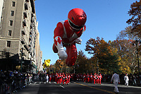 New York, NY-November 23: Red Mighty Morphin Power Ranger Ballon attends the 91st Annual Macy's Thanksgiving Day Parade on November 23, 2017 held in New York City Credit: mpi43/MediaPunch /NortePhoto.com NORTEPHOTOMEXICO