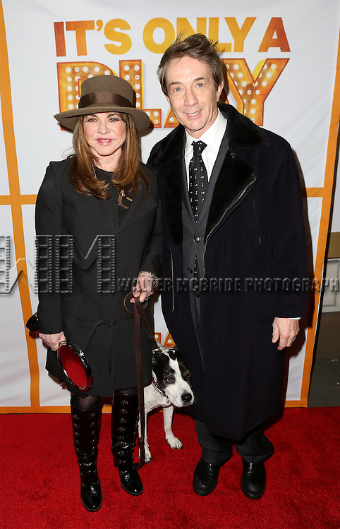 Stockard Channing and Martin Short and the cast from 'It's Only A Play' head to their new home at the Bernard B. Jacobs Theatre on January 23, 2014 in New York City.