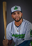 11 June 2019: Vermont Lake Monsters infielder Yerdel Vargas poses for a portrait on Photo Day at Centennial Field in Burlington, Vermont. The Lake Monsters are the Single-A minor league affiliate of the Oakland Athletics and play a short season in the NY Penn League Stedler Division. Mandatory Credit: Ed Wolfstein Photo *** RAW (NEF) Image File Available ***