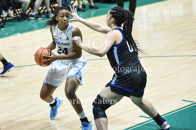 Tulane Women's Basketball tops Tulsa, 70-39.