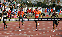 Darvis Patton winning the 100m with a time of 10.12sec. at the Adidas Track Classic 2009 on Saturday, May 16, 2009. Photo by Errol Anderson,The Sporting Image.net
