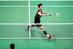 Angus Ng Ka Long of Hong Kong competes against  Sameer Verma of India during their Men's Singles Final of YONEX-SUNRISE Hong Kong Open Badminton Championships 2016 at the Hong Kong Coliseum on 27 November 2016 in Hong Kong, China. Photo by Marcio Rodrigo Machado / Power Sport Images