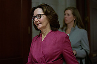 Gina Haspel, Director, Central Intelligence Agency (CIA) walks to attend a closed door briefing in the Senate SCIF with United States Secretary of State Mike Pompeo, United States Secretary of Defense Dr. Mark T. Esper, United States Army General Mark A. Milley, Chairman of the Joint Chiefs of Staff, and Acting Director of Intelligence Joseph Maguire at the United States Capitol in Washington D.C., U.S., on Wednesday, January 8, 2020.  97 senators were said to have attended the briefing, which discussed the U.S. drone strike on Iranian military leader Qasem Soleimani and the issue of Congressional authorization for such acts.<br /> <br /> Credit: Stefani Reynolds / CNP/AdMedia
