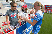 Bridgeview, IL - Sunday June 04, 2017: Fans, Alyssa Mautz during a regular season National Women's Soccer League (NWSL) match between the Chicago Red Stars and the Seattle Reign FC at Toyota Park. The Red Stars won 1-0.