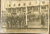 BNPS.co.uk (01202 558833)<br /> Pic: Bosleys/BNPS<br /> <br /> 1st SAS on a victory parade in Norway at the end of the war.<br /> <br /> Sold for £25,000 - An extraordinary wartime archive that lift's the veil on the earliest days of the SAS during WW2.<br /> <br /> The late Fred Casey was among the original dozen members of the 1st Special Air Service that was formed in North Africa to wreak havoc behind enemy lines.<br /> <br /> The commando's military possessions included a remarkable album containing previously unseen images of the founding members of the elite force.<br /> <br /> Legendary Captain David Stirling, who formed the 'Who Dares Wins' regiment, and hand-picked the men under his command, is pictured along with his controversial deputy Paddy Mayne , who took over the top secret regiment after Stirling's capture.<br /> <br /> The album sold at Bosley's Auctioneers of Marlow, Bucks, last week for over five times its pre-sale estimate..