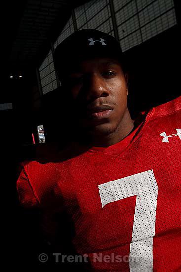 Salt Lake City - University of Utah quarterback Terrance Caine (7).