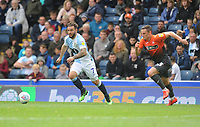 Blackburn Rovers' Adam Armstrong under pressure from Swansea City's Connor Roberts<br /> <br /> Photographer Kevin Barnes/CameraSport<br /> <br /> The EFL Sky Bet Championship - Blackburn Rovers v Swansea City - Sunday 5th May 2019 - Ewood Park - Blackburn<br /> <br /> World Copyright © 2019 CameraSport. All rights reserved. 43 Linden Ave. Countesthorpe. Leicester. England. LE8 5PG - Tel: +44 (0) 116 277 4147 - admin@camerasport.com - www.camerasport.com