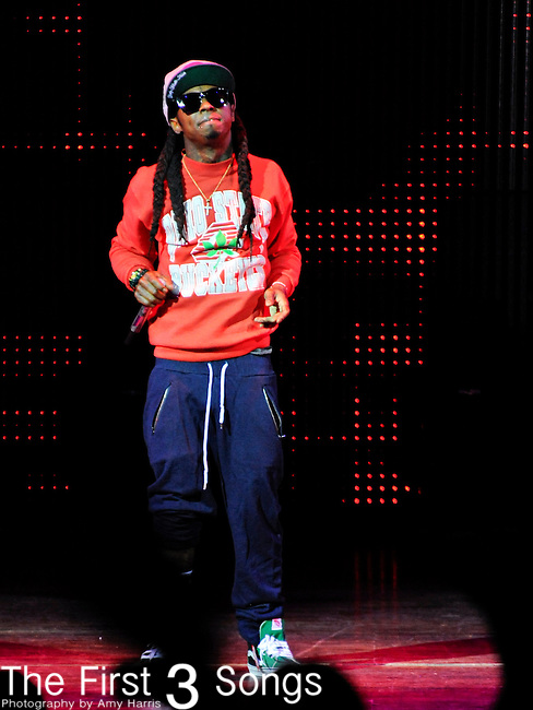 Lil Wayne performs at Riverbend Music Center in Cincinnati, Ohio on August 12, 2011.