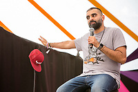 21st July 2019: Comedian Tez Ilyas plays the third day of the 2019 Latitude Festival 2019 at Henham Park, Suffolk.