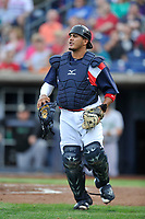 Quad Cities River Bandits catcher Ruben Castro (10) in action against the Clinton LumberKings at Modern Woodmen Park on June 14, 2018 in Davenport, Iowa. The River Bandits won 5-2.  (Dennis Hubbard/Four Seam Images)