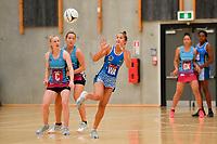 Mystics&rsquo; Elisapeta Toeava in action during the Netball Pre Season Tournament - Mystics v Steel at Ngā Purapura, Otaki, New Zealand on Saturday 9 February  2019. <br /> Photo by Masanori Udagawa. <br /> www.photowellington.photoshelter.com