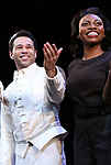 "Corbin Bleu and Adrienne Walker during the Broadway Opening Night Curtain Call for ""Kiss Me, Kate""  at Studio 54 on March 14, 2019 in New York City."