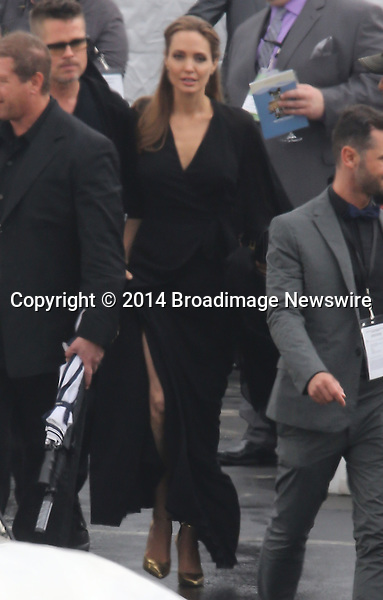 Pictured: Brad Pitt and Angelina Jolie<br /> Mandatory Credit &copy; Fernando Allende/Adriano Camolese/Broadimage<br /> Brad Pitt and Angelina Jolie signing authographs at the 2014 Independent Spirit Awards<br /> <br /> 3/1/14, Santa Monica, California, United States of America<br /> Reference: 030114_FALA_BDG_002<br /> <br /> Broadimage Newswire<br /> Los Angeles 1+  (310) 301-1027<br /> New York      1+  (646) 827-9134<br /> sales@broadimage.com<br /> http://www.broadimage.com