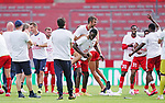 Schlussjubel Mainz, Mitte Alexander Hack, Jean-Philippe Mateta<br /><br />Sport: Fussball: 1. Bundesliga:: nphgm001:  Saison 19/20: 33. Spieltag: 1. FSV Mainz 05 vs SV Werder Bremen 20.06.2020 3:1<br />Foto: Wagner/Witters/Pool//via gumzmedia/nordphoto<br /><br /><br /> DFL REGULATIONS PROHIBIT ANY USE OF PHOTOGRAPHS AS IMAGE SEQUENCES AND OR QUASI VIDEO<br />EDITORIAL USE ONLY<br />NATIONAL AND INTERNATIONAL NEWS AGENCIES OUT