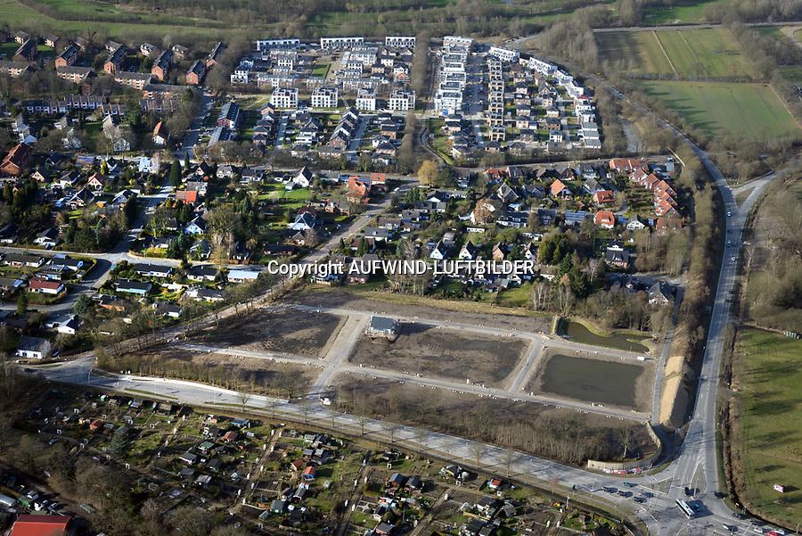 Baugebiete Moorkoppel Lange Asper: EUROPA, DEUTSCHLAND, SCHLESWIG- HOLSTEIN, REINBEK, WENTORF (GERMANY), 10.03.2017:   Baugebiete Moorkoppel Lange Asper