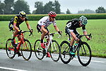 After 7.5km the breakaway group featuring Adrien Petit (FRA) Direct Energie, Markel Irizar (ESP) Trek-Segafredo and Jay McCarthy (AUS) Bora-Hansgrohe forms during Stage 12 of the 104th edition of the Tour de France 2017, running 214.5km from Pau to Peyragudes, France. 13th July 2017.<br /> Picture: ASO/Alex Broadway | Cyclefile<br /> <br /> <br /> All photos usage must carry mandatory copyright credit (&copy; Cyclefile | ASO/Alex Broadway)