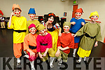 Snow White and her 7 Dwarfs ready to take to the stage at Siamsa Tire on Saturday night.<br /> Kneeling l-r, David Lynch, Cameron O'Brien and Killian O'Donnell.<br /> Back l-r, Fionn Heaslip, Adrian O'Connor, Ella Smith (Snow White), Daira James and Sam Gleasure.