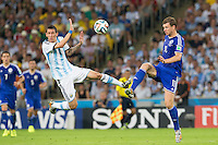 Rio de Janeiro, Brazil - Sunday, June 15, 2014: Argentina defeated Bosnia-Herzegovina 2-1 in World Cup group play at Estádio Maracanã.