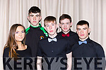 The hard working backstage crew at the Casteisland Presentation Secondary school drama in St Johns Hall on Thursday night l-r: Aoife O'Sullivan Cathal O'Donoghue Danny hickey, Dylan Browne and Padraig O'Connor
