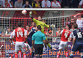 08/05/2016 Sky Bet League 1 Fleetwood Town v <br /> Crewe Alexandra<br /> Chris Maxwell clears