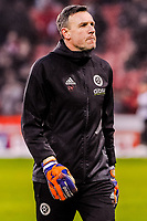Sheffield United's goalkeeping coach Darren Ward during the Sky Bet Championship match between Sheff United and Cardiff City at Bramall Lane, Sheffield, England on 2 April 2018. Photo by Stephen Buckley / PRiME Media Images.
