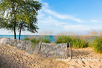 64795-01702 Fence along beach of Lake Huron, Port Huron, MI