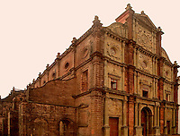 The body and relics of St. Francis Xavier are kept in this church at Old Goa, India