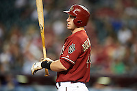 Arizona Diamondbacks first baseman Paul GoldSchmidt #44 during a National League regular season game against the Colorado Rockies at Chase Field on October 3, 2012 in Phoenix, Arizona. Colorado defeated Arizona 2-1. (Mike Janes/Four Seam Images)