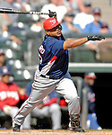 5 March 2007: Washington Nationals infielder Ronnie Belliard in action against the Atlanta Braves at Disney's Wide World of Sports in Orlando, Florida. 2007 marks the 10th year that the Braves have been training at the Disney facility.<br /> <br /> Mandatory Photo Credit: Ed Wolfstein Photo