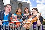 SESSIONS: Members of Listowel Comhaltas branch who are holding weekly music sessions for the summer in the Listowel Arms Hotel, l-r: James Duggan, Louise Bunyan, Linda Kennelly, Davina Guerin.