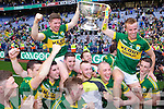 Kerry celebrate after defeating Donegal in the GAA All Ireland Senior Football Championship final.