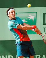 02-06-12, France, Paris, Tennis, Roland Garros, Juan Monaco