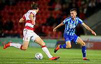 Blackpool's Ryan Hardie takes on Doncaster Rovers' Tom Anderson<br /> <br /> Photographer Alex Dodd/CameraSport<br /> <br /> The EFL Sky Bet League One - Doncaster Rovers v Blackpool - Tuesday September 17th 2019 - Keepmoat Stadium - Doncaster<br /> <br /> World Copyright © 2019 CameraSport. All rights reserved. 43 Linden Ave. Countesthorpe. Leicester. England. LE8 5PG - Tel: +44 (0) 116 277 4147 - admin@camerasport.com - www.camerasport.com