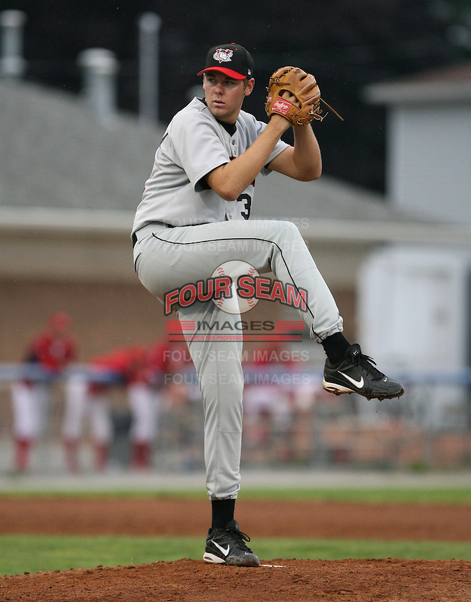 2007:  Thomas Vessella of the Tri-City Valley Cats, Class-A affiliate of the Houston Astros, during the New York-Penn League baseball season.  Photo by Mike Janes/Four Seam Images